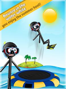 Stickman Water Trampoline FREE