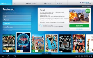 Screenshot of BigPond Movies