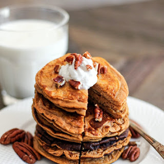 Healthy Pumpkin Pancakes (low carb, high protein, gluten free).
