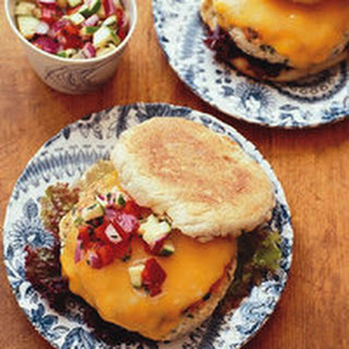 Turkey Burgers with Zucchini Relish