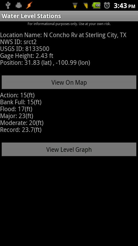 Water Level Stations- screenshot