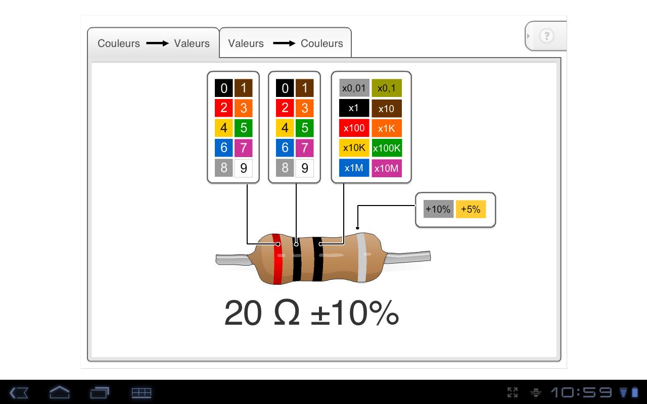 R 233 Sistance Codes Couleurs Aplik 225 Cie Pre Android V Aplik 225 Cii Google Play
