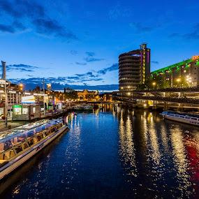 Amsterdam by Jesús Sánchez Ibáñez - City,  Street & Park  Night ( city, night )