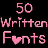 Fonts for FlipFont 50 Written