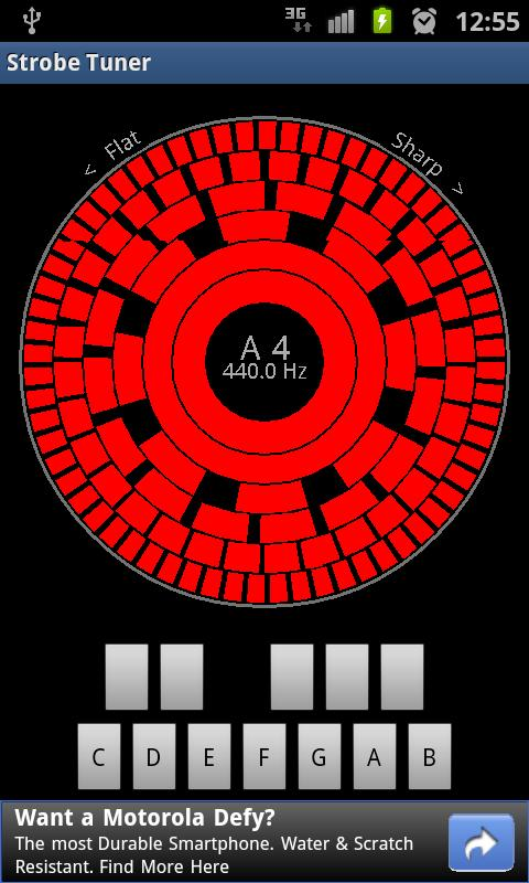 Stroboscopic Tuner - screenshot