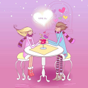Cute Romantic Love 3D Live wp icon