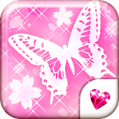 CuteWallpaper★SAKURA Butterfly