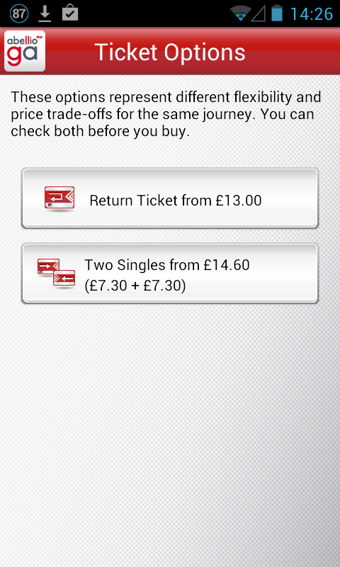 Greater Anglia Tickets - screenshot