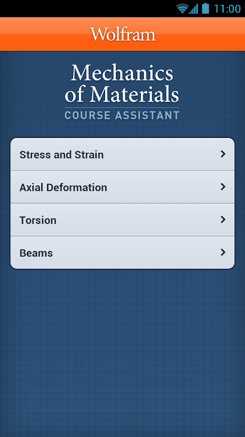 Mechanics of Materials App - screenshot