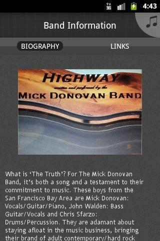 Mick Donovan Band - screenshot