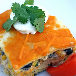 Mexican Chicken Lasagna With Tortillas Recipes.