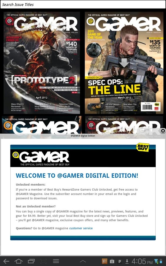 @GAMER Magazine - screenshot