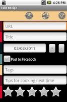 Screenshot of Mibori Recipe Organizer