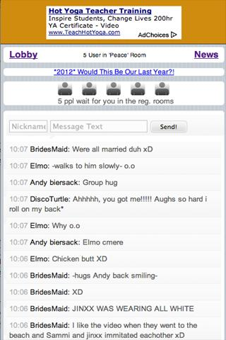 Chat World - screenshot