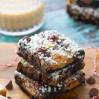 Chocolate Hazelnut Baileys Magic Cookie Bars.