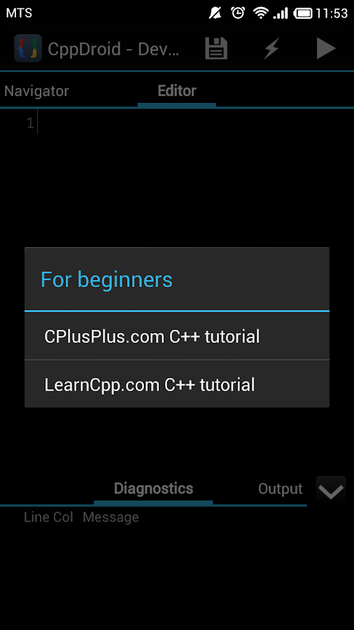CppDroid - C/C++ IDE - screenshot