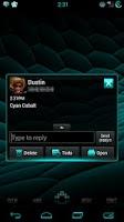 Screenshot of GO SMS Cyan Cobalt Theme