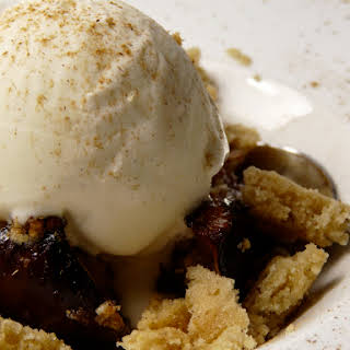 Roasted Figs with Almond Cream, Vanilla Ice Cream.