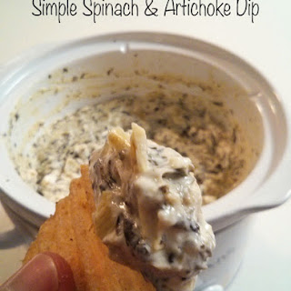 Simple Spinach Artichoke Dip