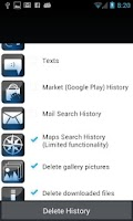 Screenshot of Delete My History -Erase Clear
