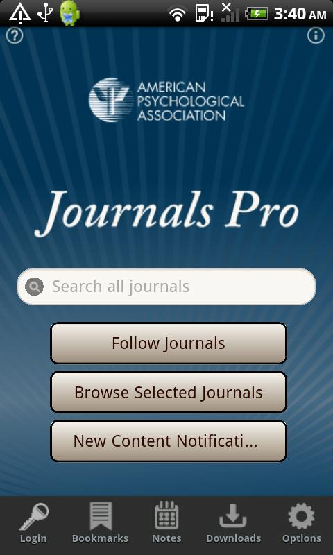 APA Journals Pro - screenshot