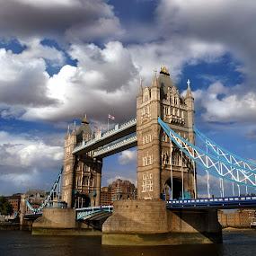 Tower Bridge. by Michael Dalmedo - Buildings & Architecture Bridges & Suspended Structures