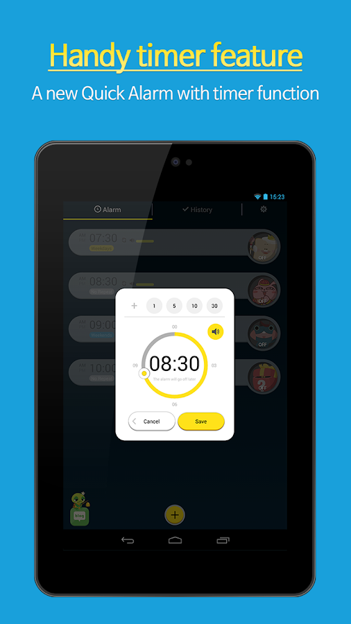 AlarmMon ( alarm clock ) - screenshot