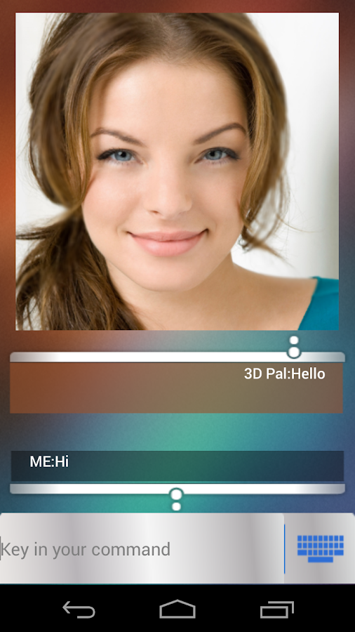 3D Pal Lite( 3D Siri ) - screenshot