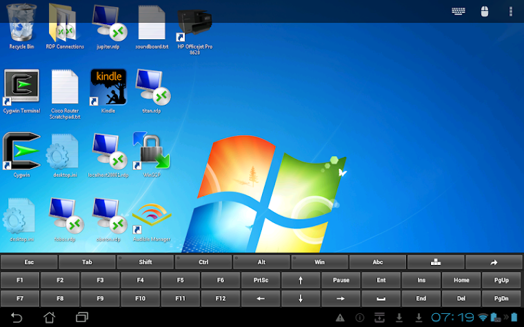 Remote Desktop Client Screenshot