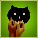 Baby hand shadow icon