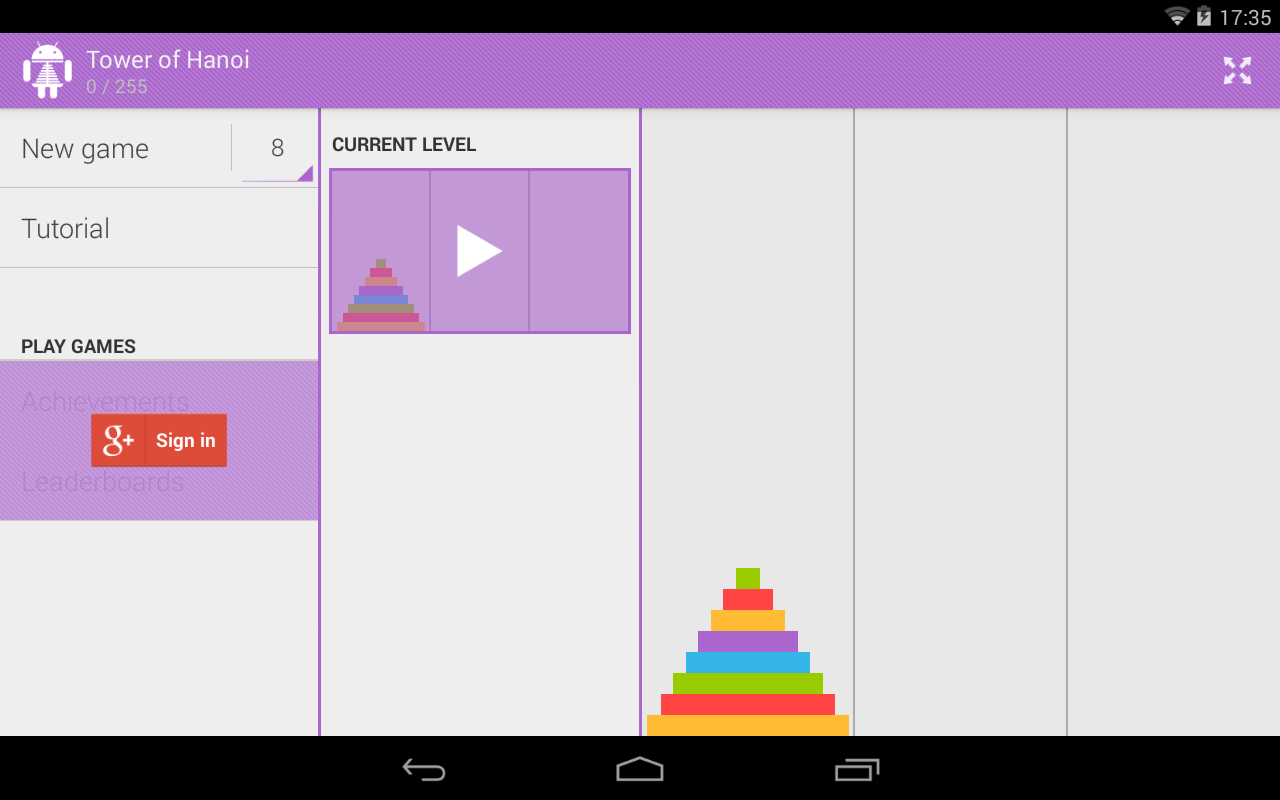 Tower of Hanoi Pro - screenshot