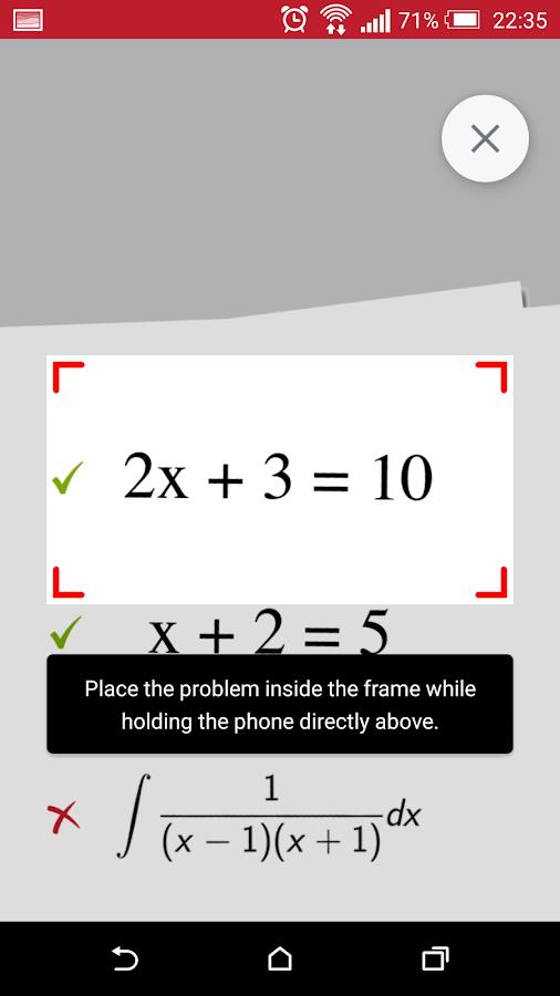PhotoMath - screenshot