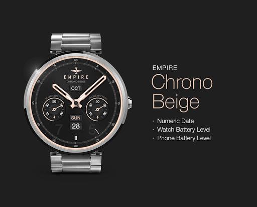 Chrono Beige watchface by Impe