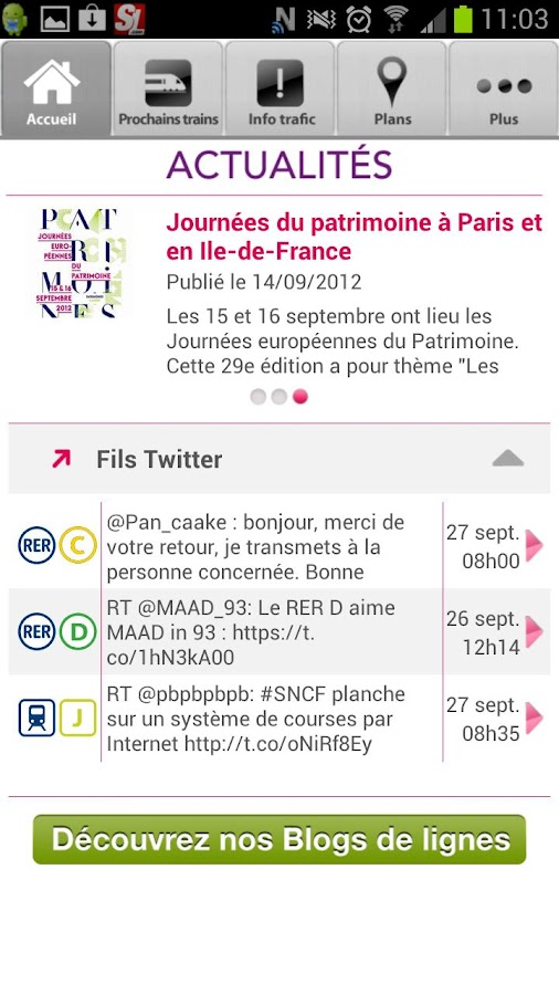 SNCF Transilien - screenshot