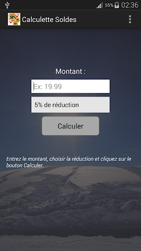 Calculette Soldes Shopping