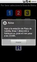 Screenshot of Nighttime Metro Madrid