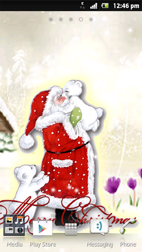 Free Christmas Snow Wallpaper