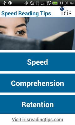 Speed Reading Tips - screenshot