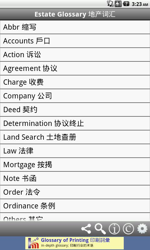 Estate Glossary 地产词汇- screenshot