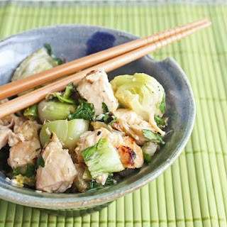 Grilled Chicken & Baby Bok Choy Salad.