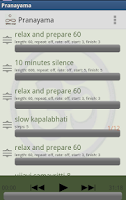 Screenshot of Vijnana Yoga Timer