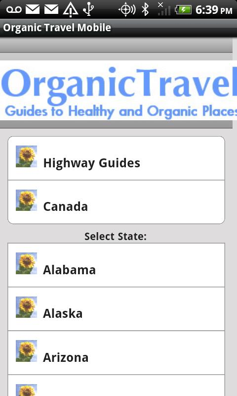Organic Travel Mobile - screenshot