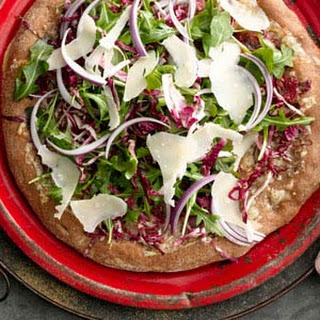 Arugula and Radicchio Salad Pizza