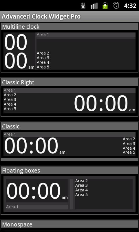Advanced Clock Widget Pro - screenshot