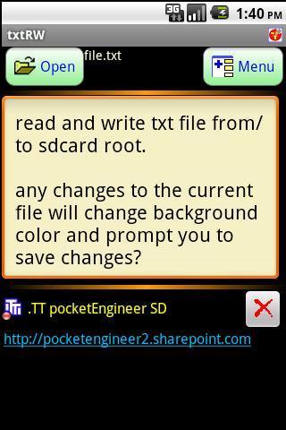 simplest text editor - txtRW