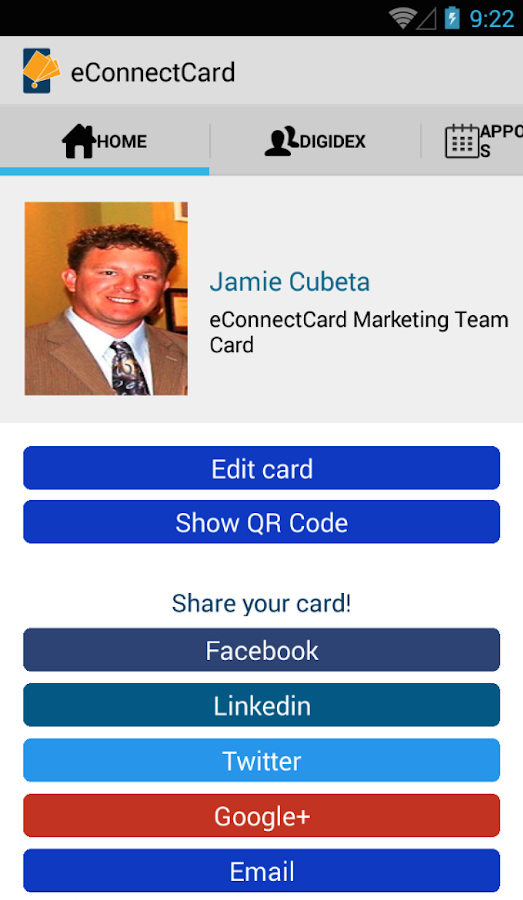 eConnectCard | Business Cards- screenshot