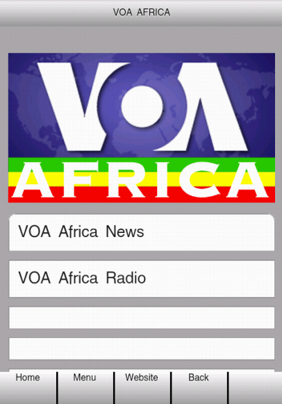 VOA Africa- screenshot
