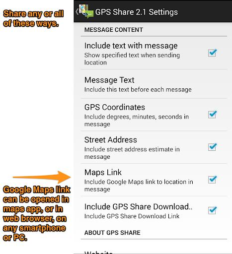 GPS Share  screenshot 3