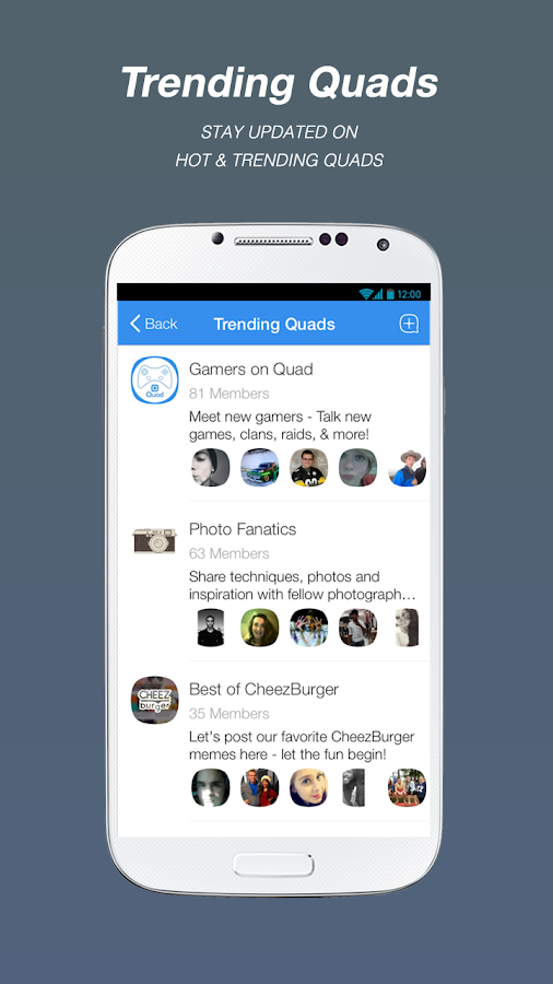 QUAD - The fresh way to chat - screenshot