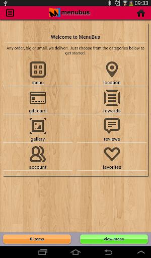 Menubus Food Ordering App